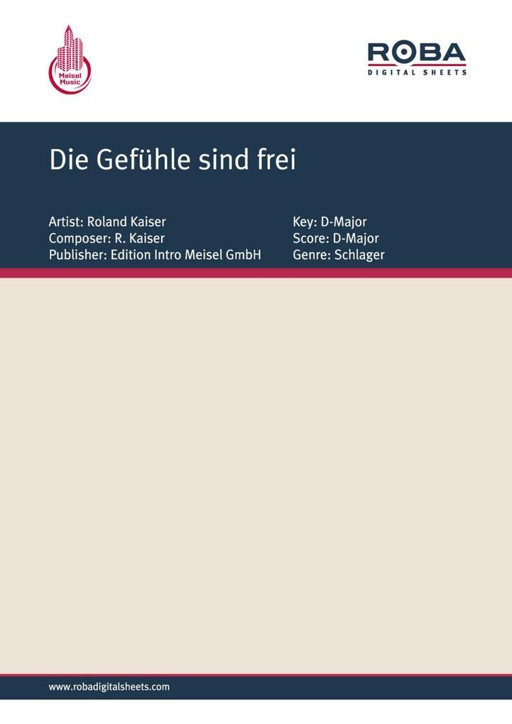 Die Gefühle sind frei als eBook pdf