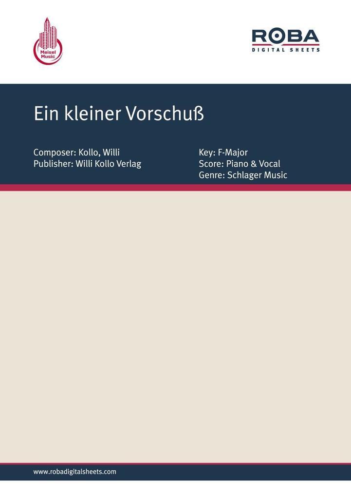Ein kleiner Vorschuss als eBook pdf