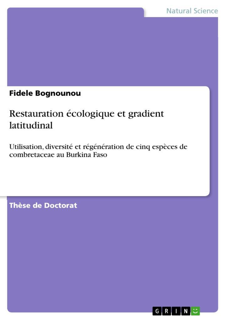 Restauration écologique et gradient latitudinal als eBook pdf