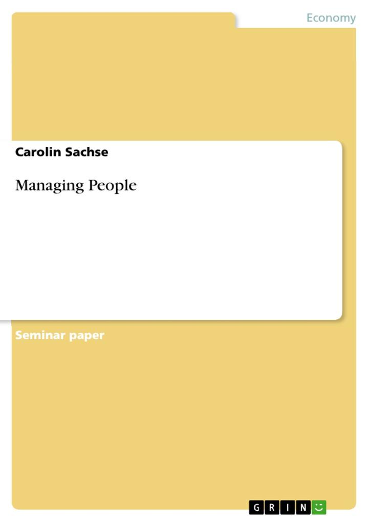 Managing People als eBook pdf