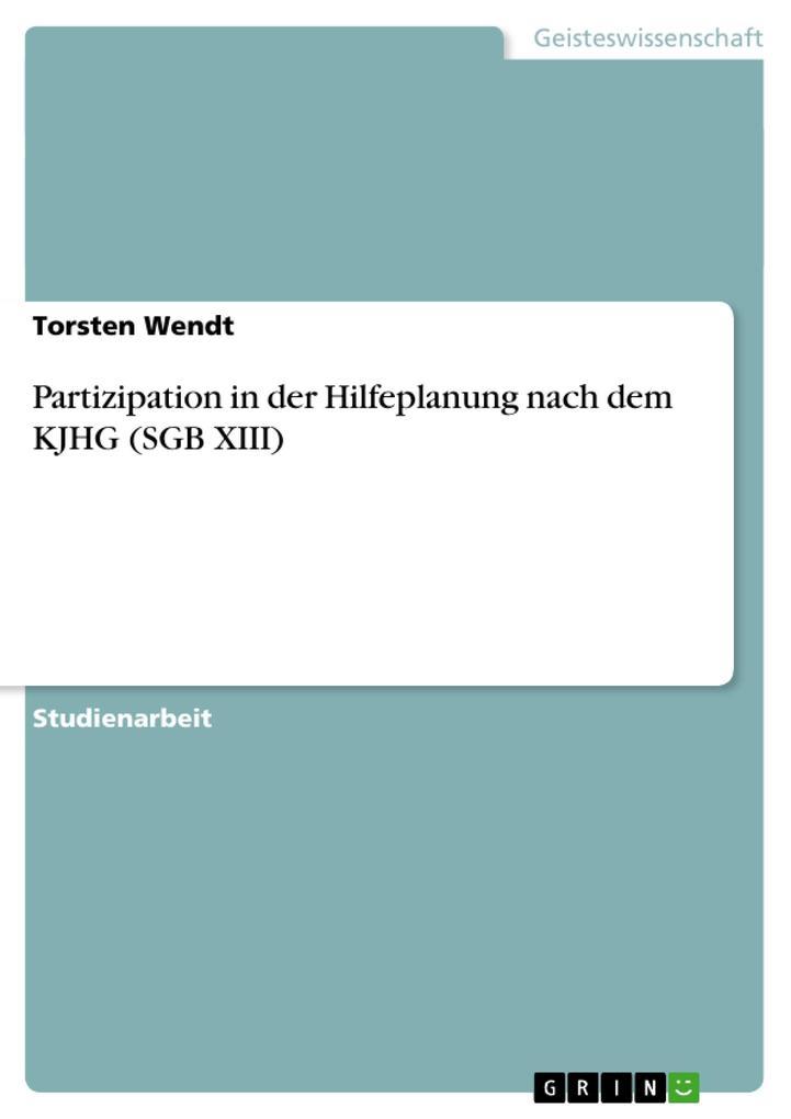Partizipation in der Hilfeplanung nach dem KJHG (SGB XIII) als Buch (kartoniert)