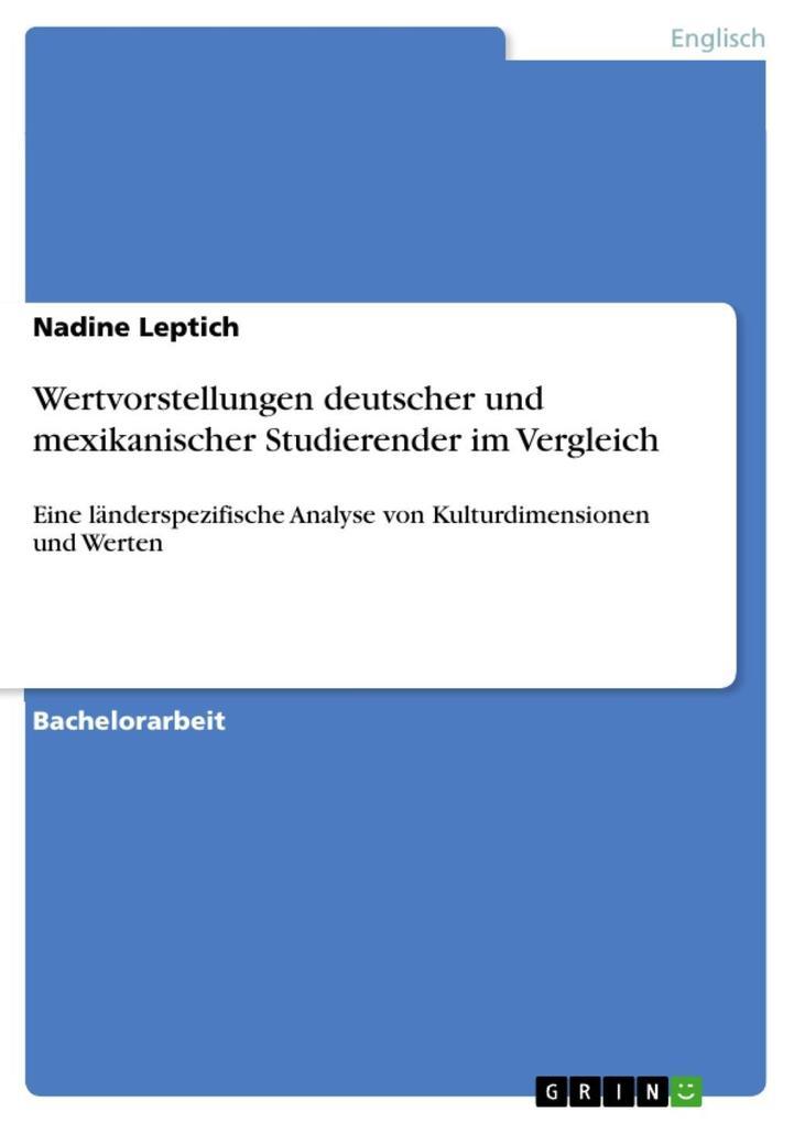 Wertvorstellungen deutscher und mexikanischer Studierender im Vergleich als eBook epub