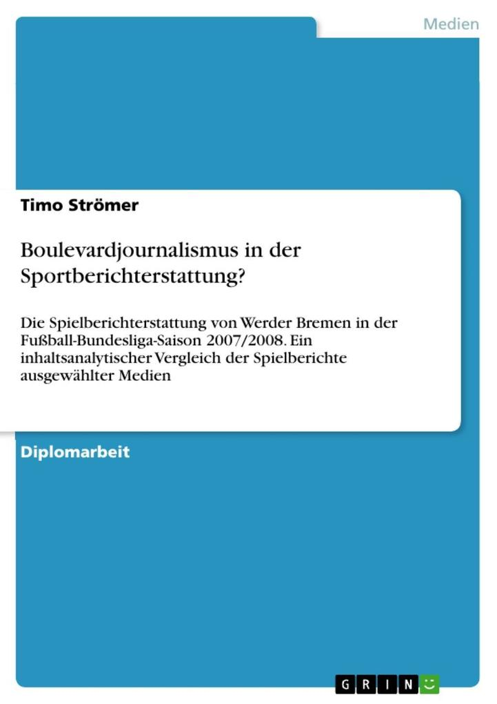 Boulevardjournalismus in der Sportberichterstattung? als eBook epub