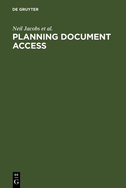 Planning Document Access als eBook pdf