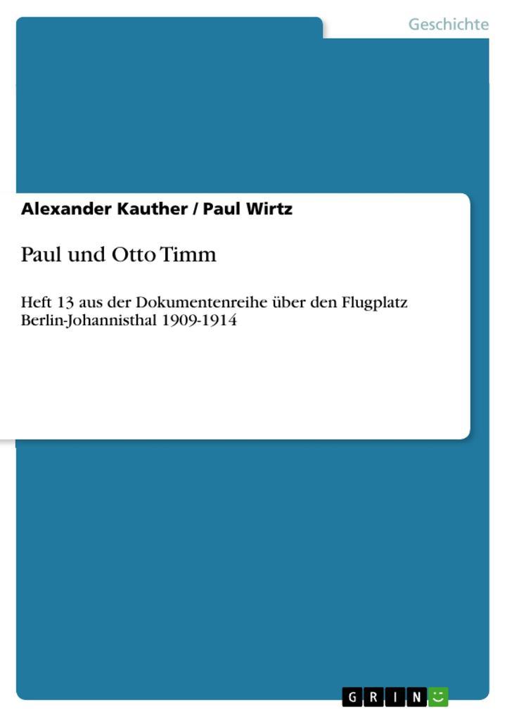 Paul und Otto Timm als eBook pdf