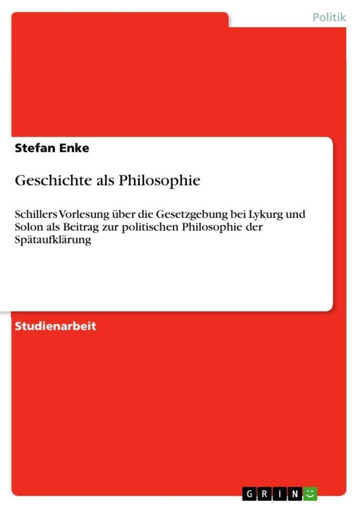 Geschichte als Philosophie als eBook epub