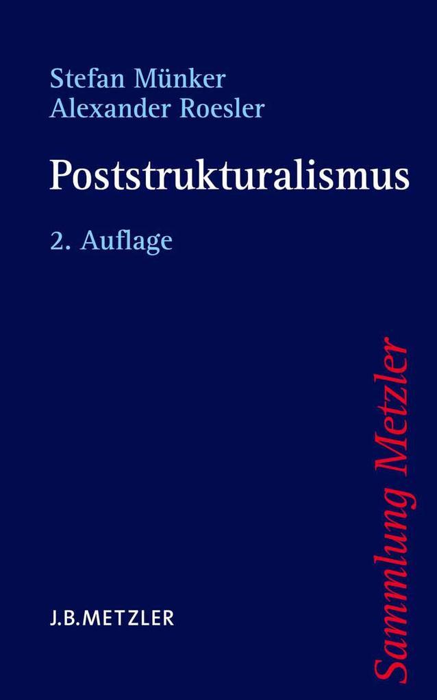 Poststrukturalismus als Taschenbuch