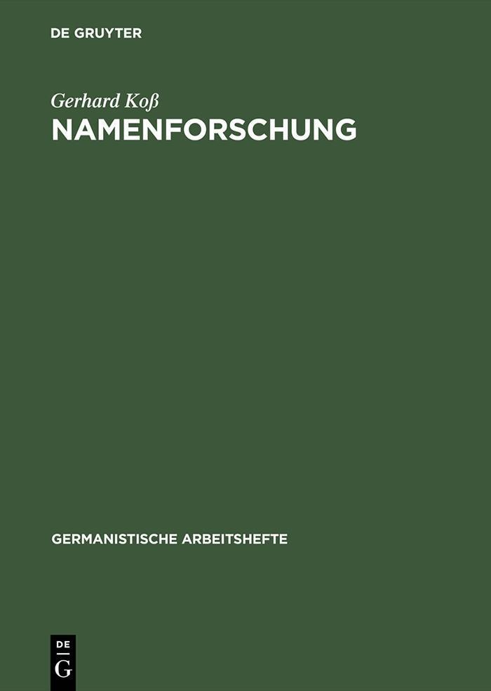 Namenforschung als eBook pdf
