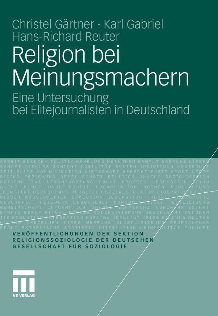 Religion bei Meinungsmachern als eBook pdf