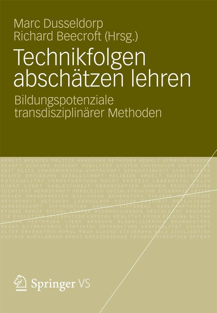 Technikfolgen abschätzen lehren als eBook pdf