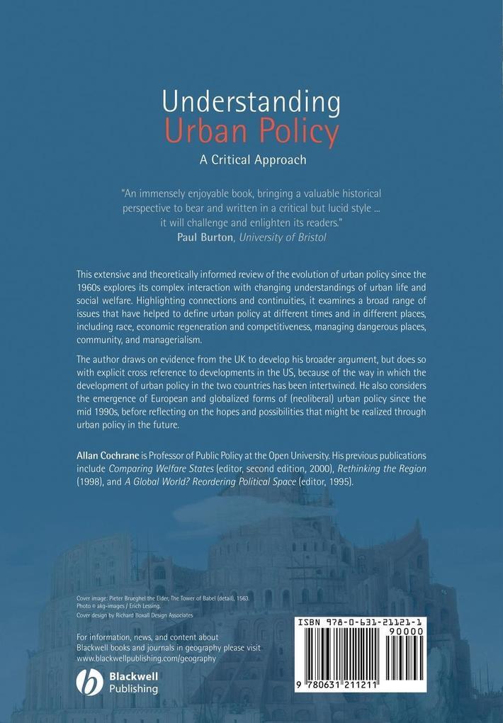 Understanding Urban Policy als Taschenbuch