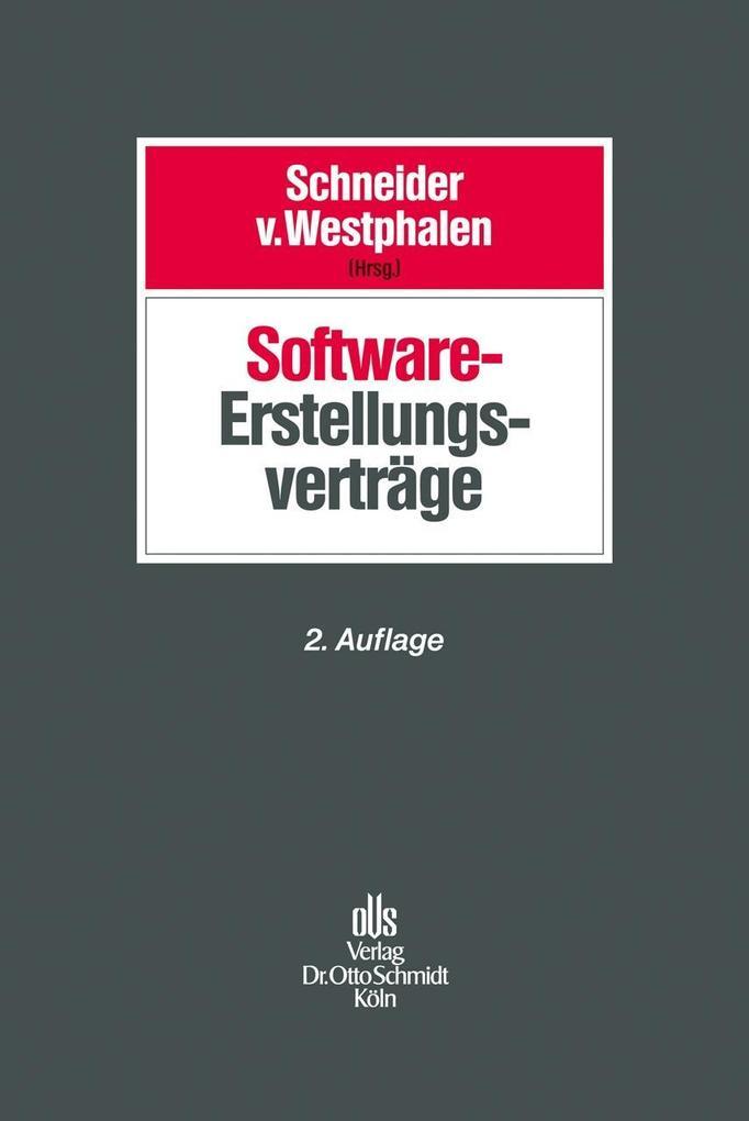 Software-Erstellungsverträge als Buch (gebunden)
