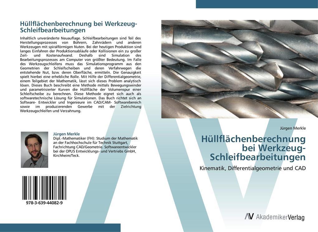 Hüllflächenberechnung bei Werkzeug-Schleifbearbeitungen als Buch (gebunden)