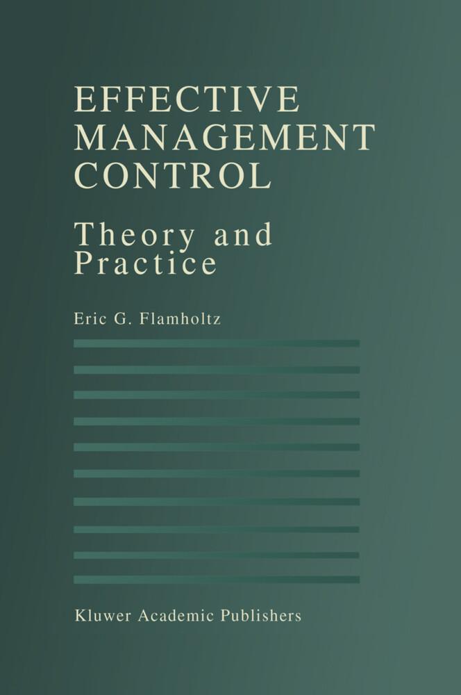 Effective Management Control als Buch (gebunden)