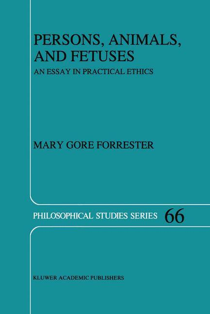 Persons, Animals, and Fetuses als Buch (kartoniert)