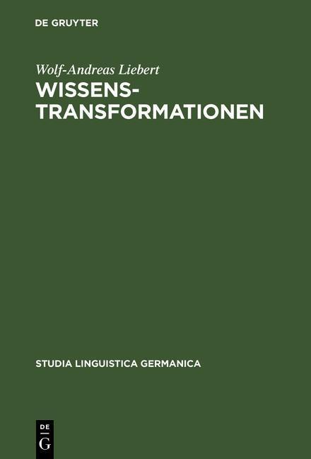 Wissenstransformationen als eBook pdf