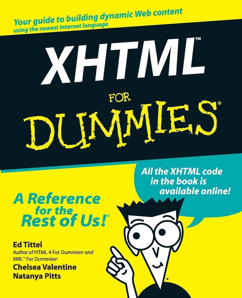 XHTML for Dummies [With CDROM] als Taschenbuch