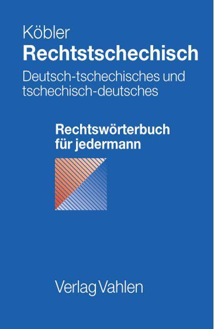 Rechtstschechisch als Buch (kartoniert)