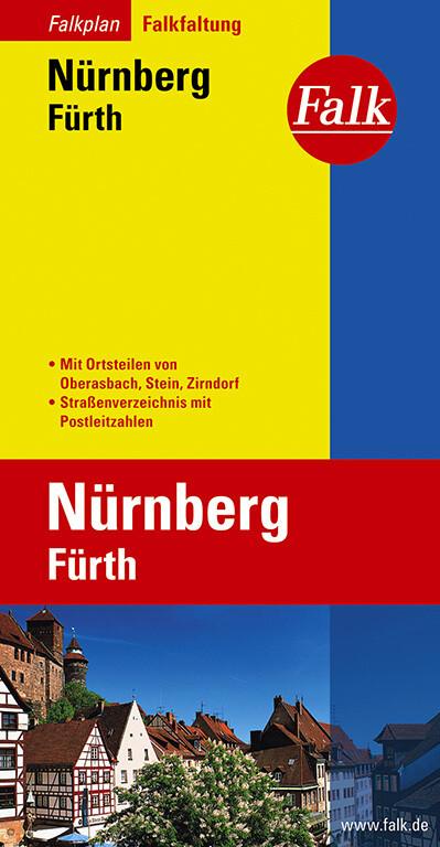 Falk Stadtplan Falkfaltung Nürnberg / Fürth 1 : 23 000 als Blätter und Karten
