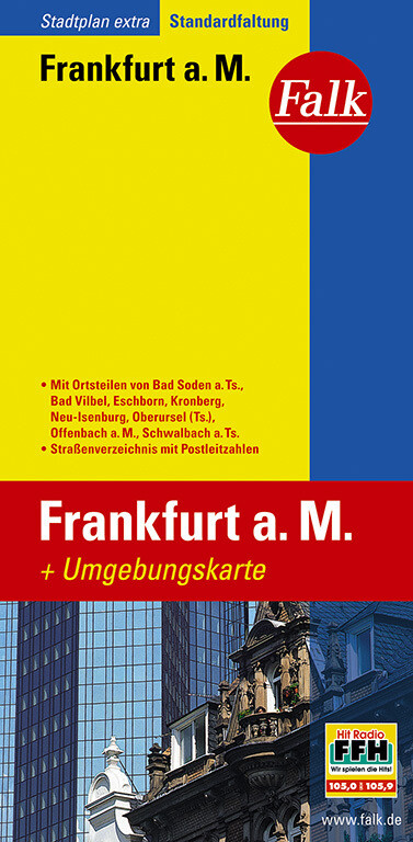 Falk Stadtplan Extra Standardfaltung Frankfurt am Main 1:20 000 als Blätter und Karten