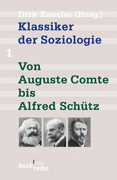 Klassiker der Soziologie 01 als Taschenbuch
