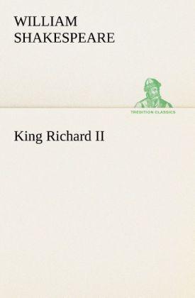 King Richard II als Buch (kartoniert)