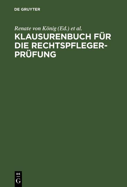 Klausurenbuch für die Rechtspflegerprüfung als eBook pdf