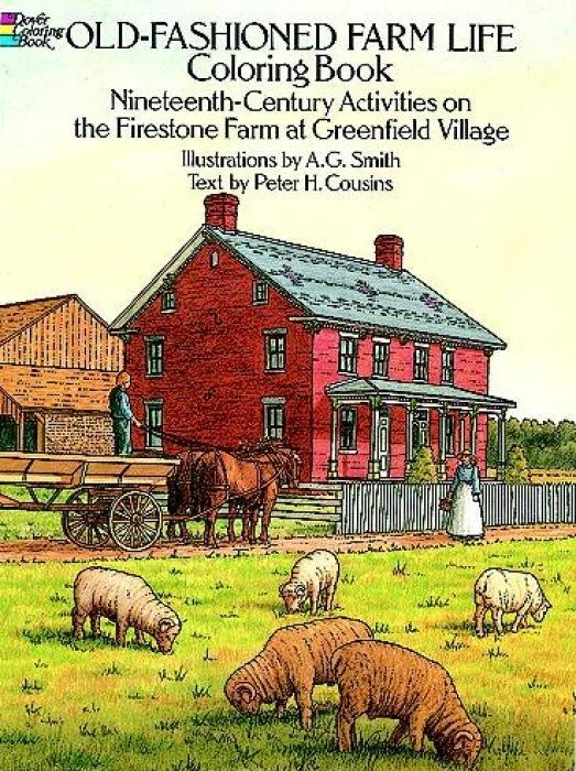 Old-Fashioned Farm Life Colouring Book als Taschenbuch