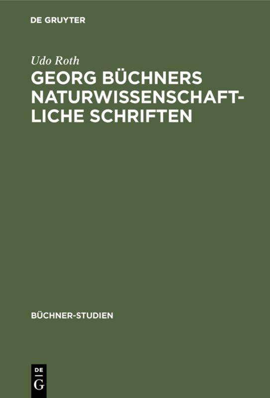 Georg Büchners naturwissenschaftliche Schriften als Buch (gebunden)