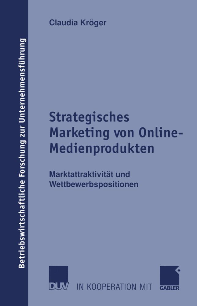 Strategisches Marketing von Online-Medienprodukten als Buch