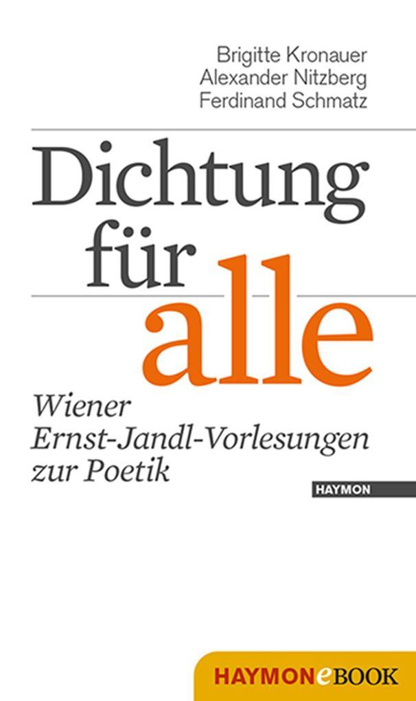 Dichtung für alle als eBook pdf
