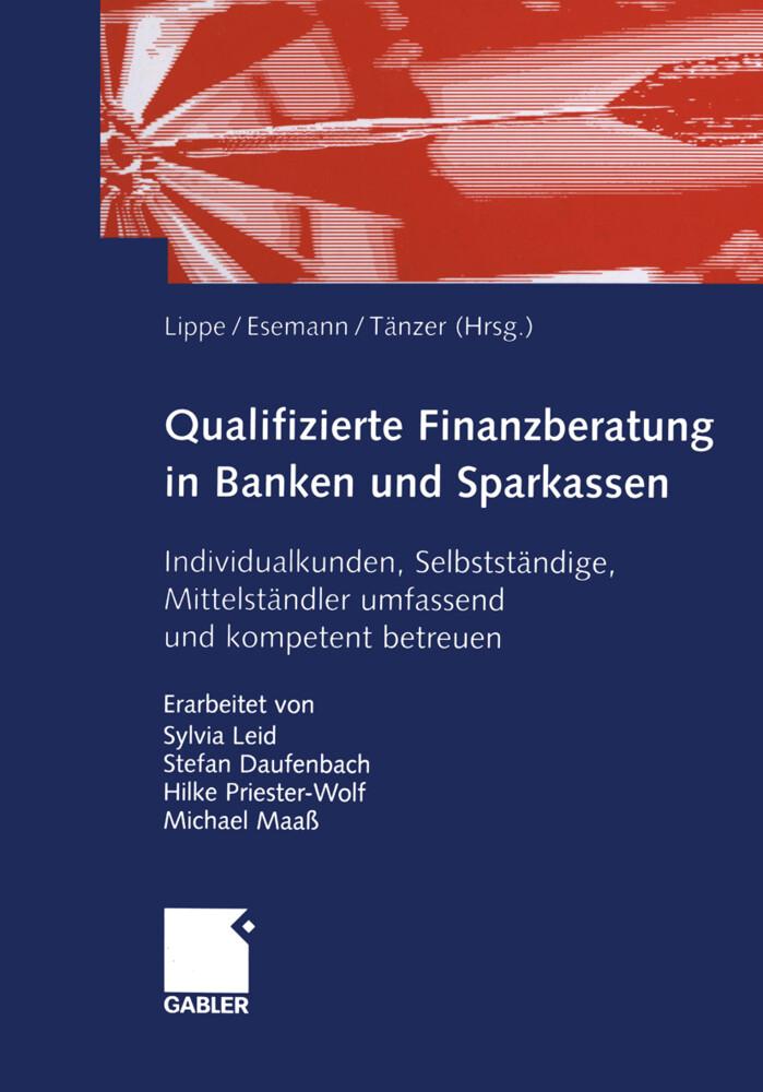 Qualifizierte Finanzberatung in Banken und Sparkassen als Buch (kartoniert)