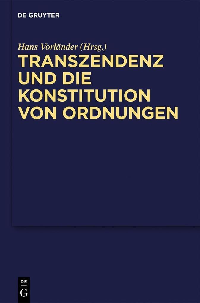 Transzendenz und die Konstitution von Ordnungen als eBook pdf