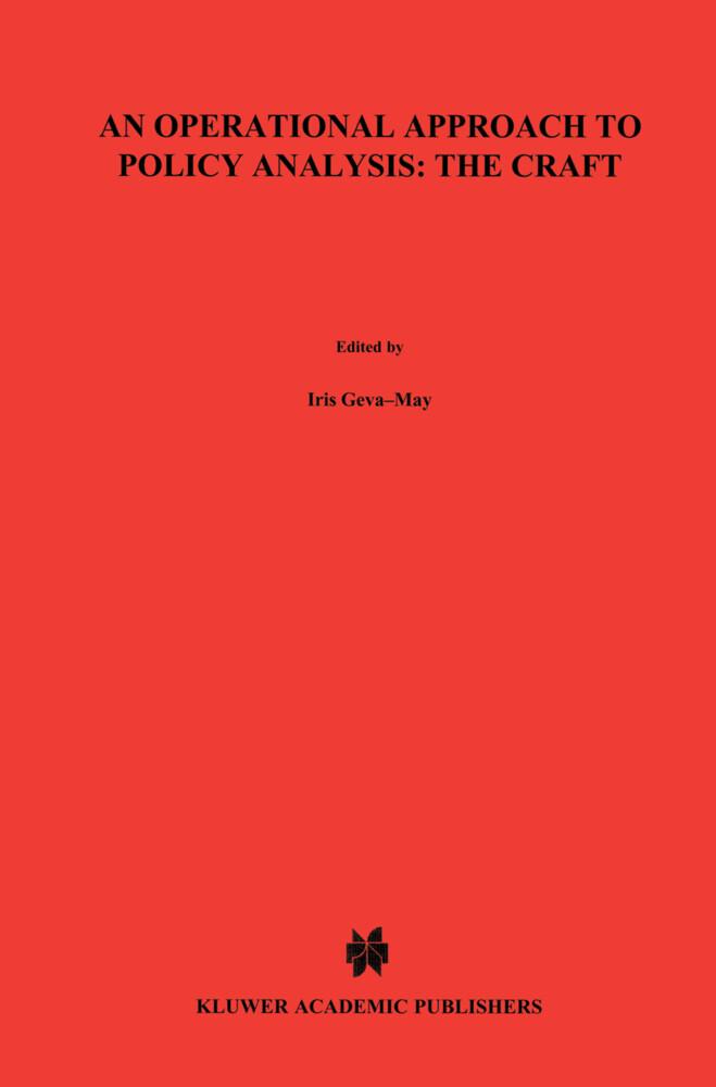 An Operational Approach to Policy Analysis: The Craft als Buch (gebunden)