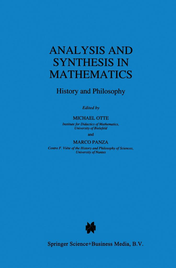 Analysis and Synthesis in Mathematics als Buch (kartoniert)