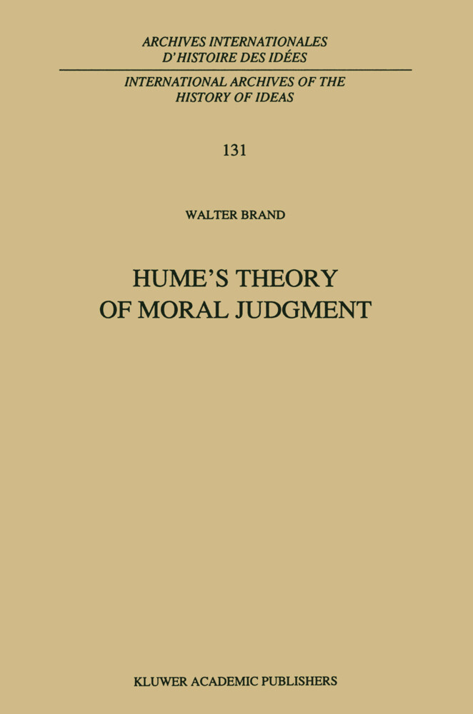 Hume's Theory of Moral Judgment als Buch (kartoniert)