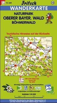 Naturpark Oberer Bayerischer Wald / Böhmerwald 1 : 50 000. Fritsch Wanderkarte als Blätter und Karten