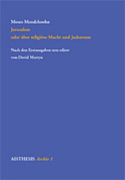 Jerusalem oder über religiöse Macht und Judentum als Buch (kartoniert)
