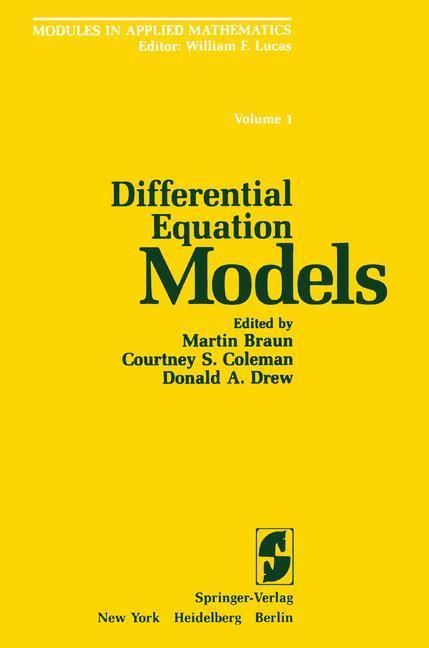 Differential Equation Models als Buch (kartoniert)