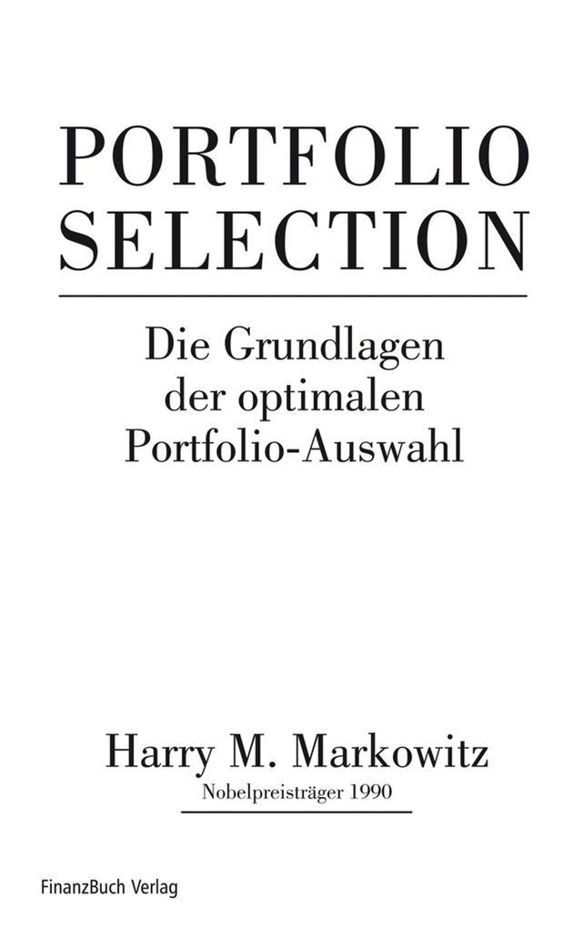 Portfolio Selection als eBook epub