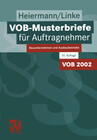 VOB-Musterbriefe für Auftragnehmer