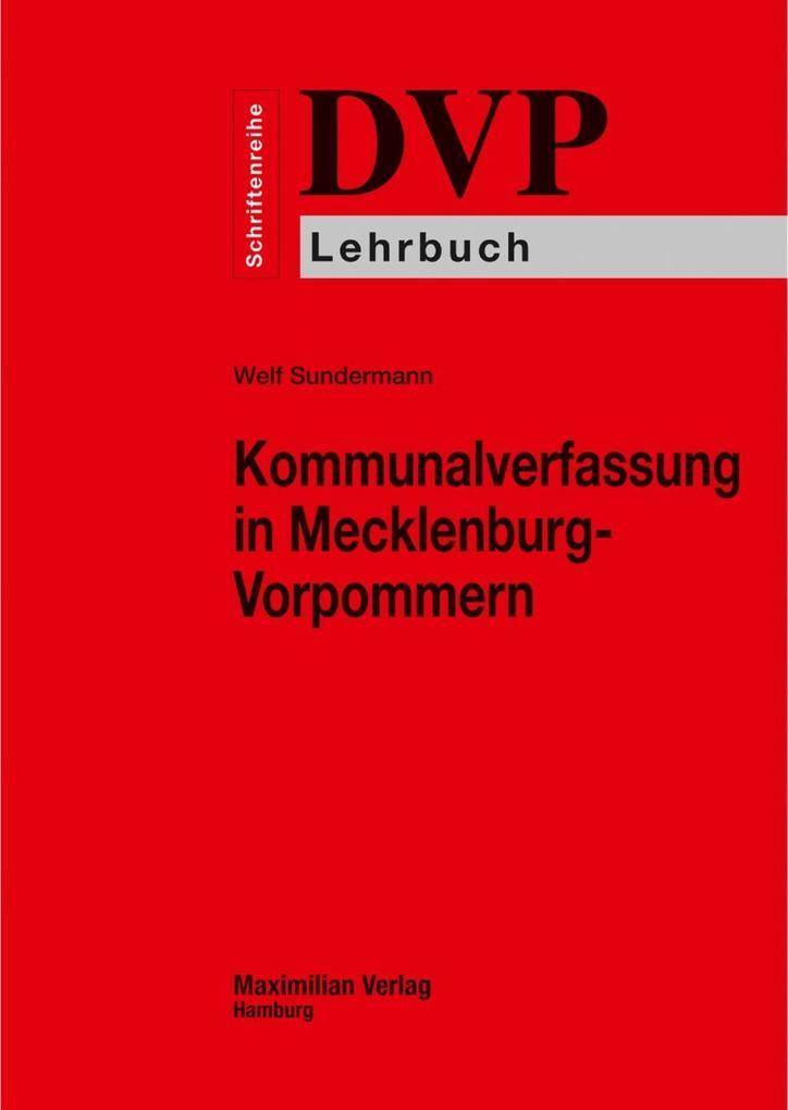 Kommunalverfassung in Mecklenburg-Vorpommern als eBook epub