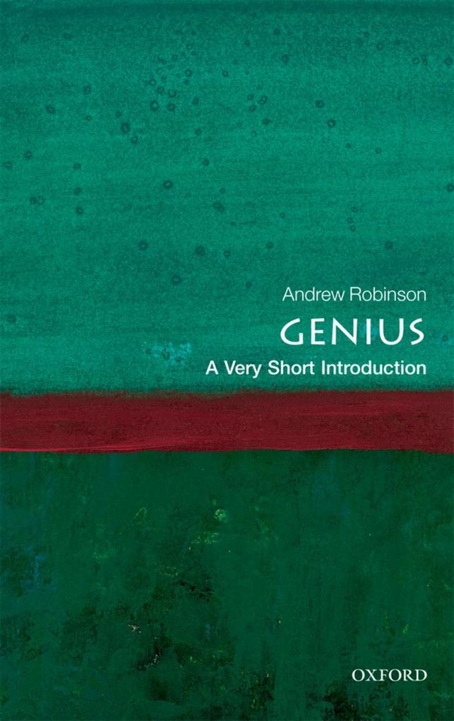 Genius: A Very Short Introduction als eBook epub