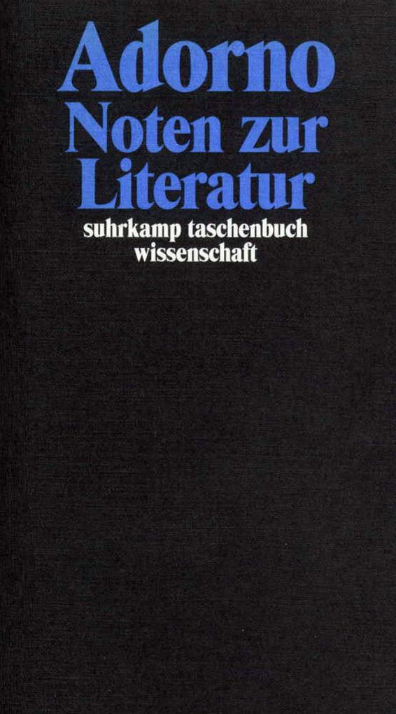 Noten zur Literatur als Taschenbuch