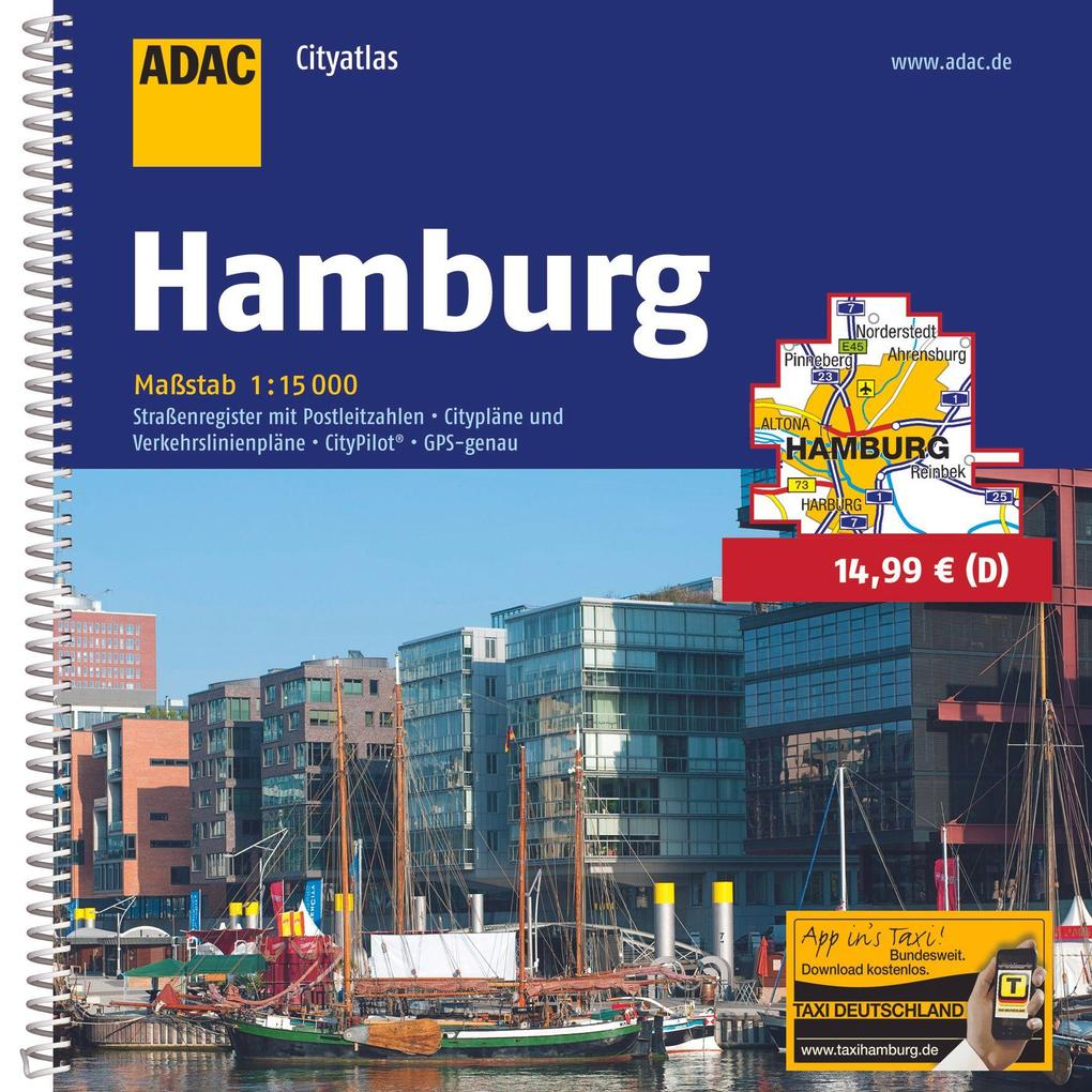 ADAC CityAtlas Hamburg 1 : 15 000 als Buch (kartoniert)