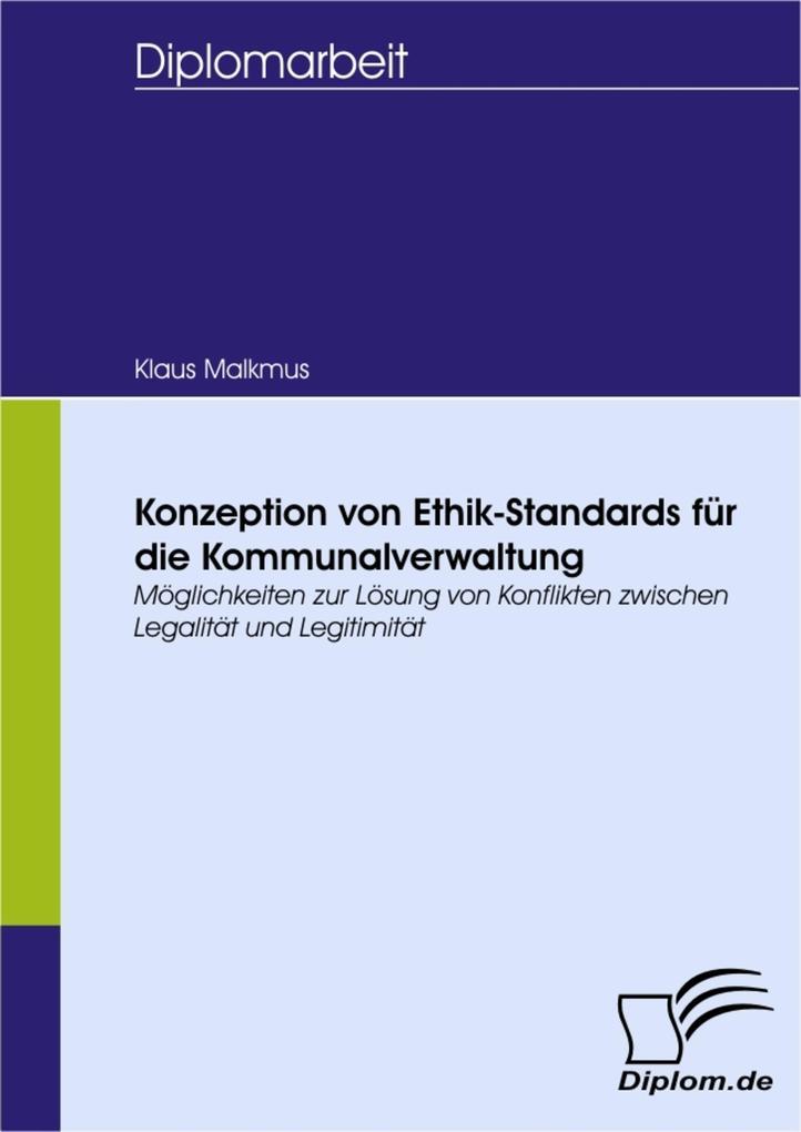 Konzeption von Ethik-Standards für die Kommunalverwaltung als eBook