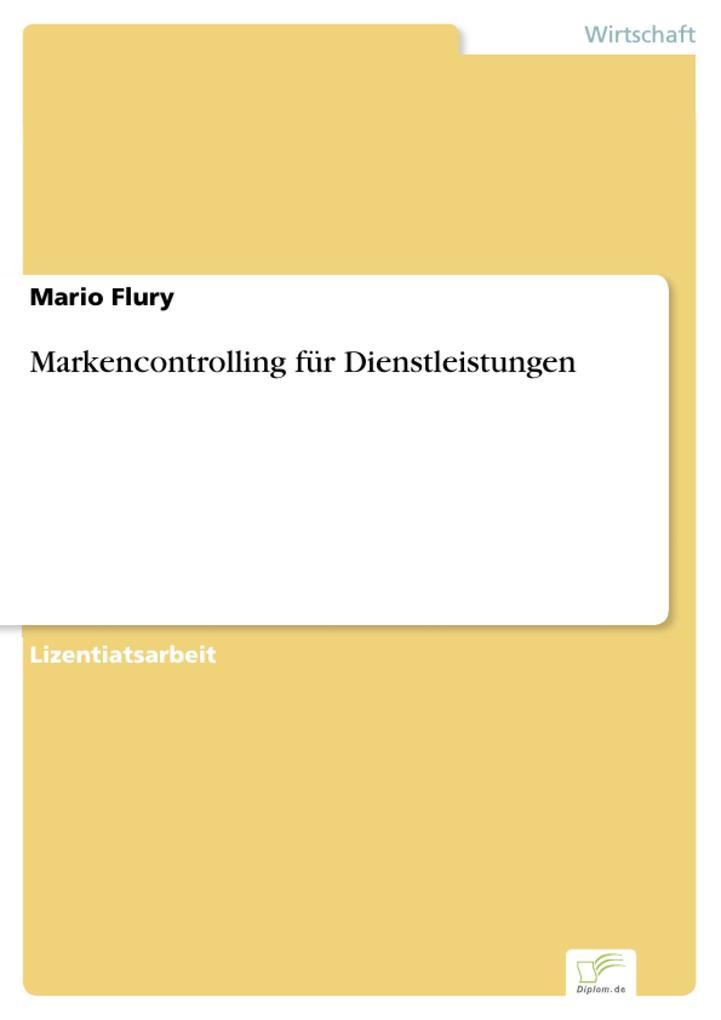 Markencontrolling für Dienstleistungen als eBook pdf