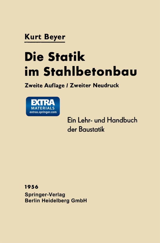 Die Statik im Stahlbetonbau als Buch (kartoniert)