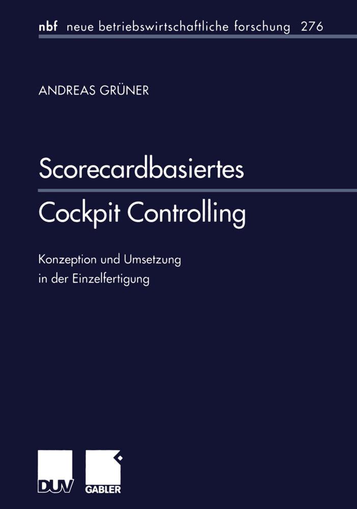 Scorecardbasiertes Cockpit Controlling als Buch (kartoniert)