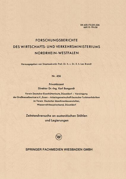 Zeitstandversuche an austenitischen Stählen und Legierungen als Buch (kartoniert)